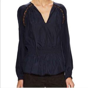 10 Crosby Derek Lamb • navy lace blouse